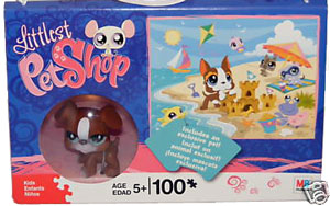 Littlest Pet Shop Puzzle - 100Pcs - Beach Side - Exclusive Dog