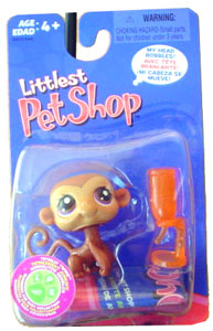 Littlest Pet Shop - Purple Eye Monkey with Bottle - 57