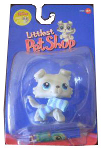 Littlest Pet Shop - Grey Collie with Scraf - 363