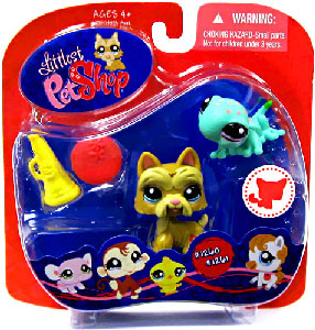 Littlest Pet Shop - Scotty Dog and Gecko