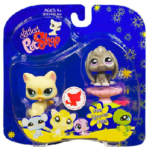 Littlest Pet Shop - Happiest Collection Cat and Bunny