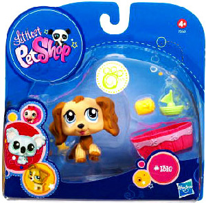 Littlest Pet Shop - Pet with Accessories - Cocker Spaniel with Tub