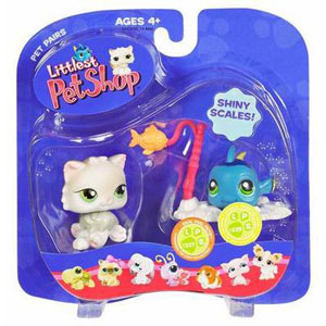 Littlest Pet Shop - Cat and Blue Fish