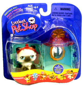 Littlest Pet Shop - Turquoise Vanity Kitty