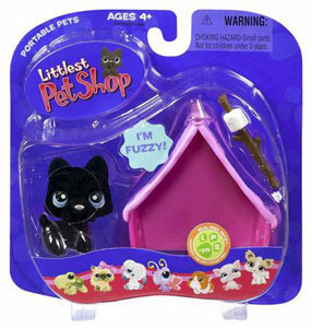 Littlest Pet Shop - Black Dog with House