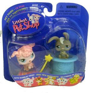 Littlest Pet Shop - Poofy Poodle & Gray Bunny