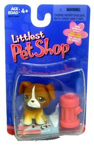 Littlest Pet Shop - Boxer with Hydrant