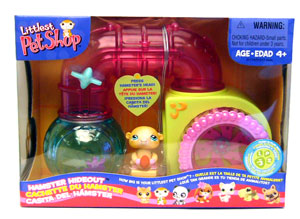 Littlest Pet Shop Figures Playset Rodent House with Hamster (Hamster Hideout)