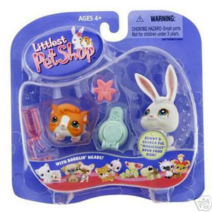 Littlest Pet Shop - Guinea Pig and White Bunny