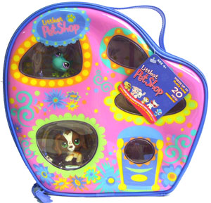 Littlest Pet Shop Carrying Case with 2 Bonus Figures