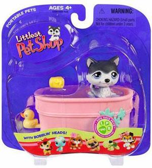 Littlest Pet Shop - Dog With Bathtub - 210