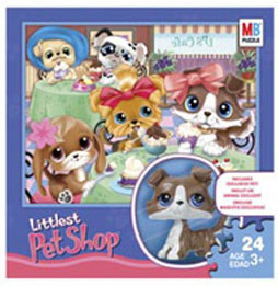 LITTLEST PET SHOP 24 pc. Puzzle with Exclusive LITTLEST PET SHOP Figure