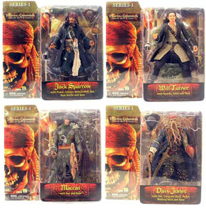 Pirates of The Caribbean - Dead Man Chest Series 1 - Set of 4
