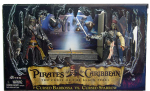 Cursed Sparrow Vs. Cursed Barbossa with Diorama Base