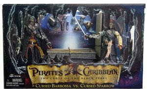 Cursed Sparrow Vs. Cursed Barbossa with Diorama Base