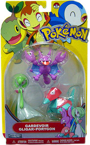 Pokemon Basic 3-Pack - Gardevoir, Gligar, Porygon