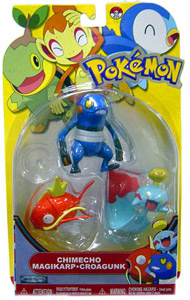 Pokemon Basic 3-Pack - Chimecho, Magikarp, Croagunk