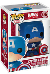 Marvel Pop Heroes 3.75 Vinyl - First Avenger Captain America