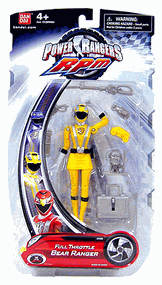 Power Rangers RPM - Full Throttle Yellow Bear Ranger
