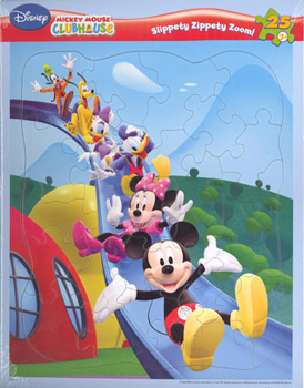 Disney MICKEY MOUSE CLUBHOUSE  25 Piece  4 pack - Inlaid Jigsaw Puzzles