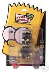 3-Inch BART SIMPSON GID CHASE Qee Kidrobot Dunny