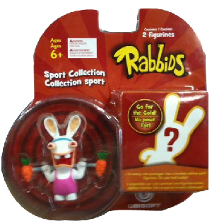 Rayman Raving Rabbids - Sports Collection 2 Figures Weightlift and Mystery