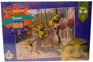 Shrek Puzzle - Donkey and Babies 100 pcs