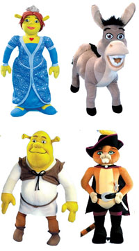 7-inch Shrek Plush Set of 4