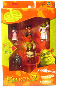 Shrek 2 Far Far Away Figure Pack with Puss in Boot