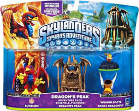 Skylanders - Dragons Peak - Sunburn, Dragon Peak, Winged Boots, Sparx Dragonfly