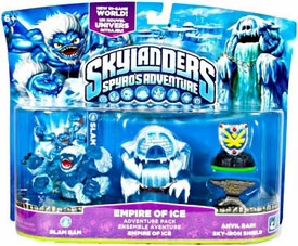 Skylanders - Empire of Ice - Slam Bam, Empire of Ice, Anvil Rain, Sky-Iron Shield