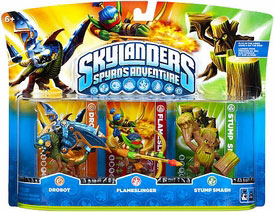 Skylanders - 3-Pack Drobot, Flameslinger, Stump Smash