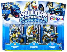 Skylanders - 3-Pack Skylanders - 3-Pack Legendary Bash, Legendary Chop Chop, Legendary Spyro