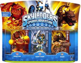 Skylanders - 3-Pack Eruptor, Chop Chop, Bash
