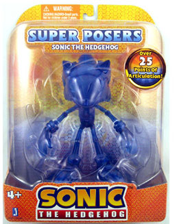 Sonic The Hedgehog - Super Poser Blue Translucent Sonic