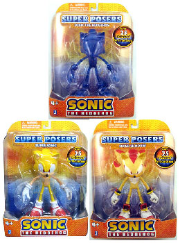 Sonic The Hedgehog - Super Poser Set of 3 [Blue Sonic, Super Sonic, Super Shadow]