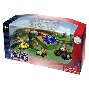 Sonic Sega All-Stars Mini Racing - 1.5-Inch Set of 4 Racer Vehicle