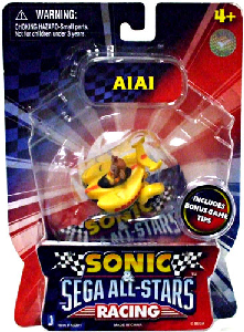 Sonic Sega All-Stars Mini Racing - 1.5-Inch AiAi Racer