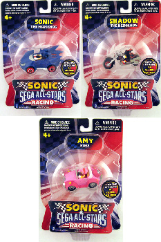 Sonic Sega All-Stars Mini Racing - 1.5-Inch Set of 3[Sonic,Shadow,Amy]