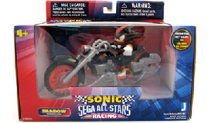 Sonic Sega All-Stars Racing - 5-Inch Shadow with Motorcycle
