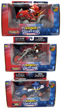 Sonic Sega All-Stars Racing - 5-Inch Set of 3[Sonic,Shadow,Knuckles]