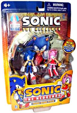 3-Inch Sonic The Hedgehog - 2-Pack: Sonic and Amy