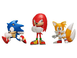 4-Inch Sonic The Hedgehog PVC Vinyl - Set of 3