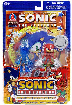 3-Inch Sonic The Hedgehog - 2-Pack: Clear Blue Sonic and Knuckles