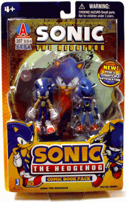 3-Inch Sonic The Hedgehog - 2-Pack: Sonic and Metal Sonic