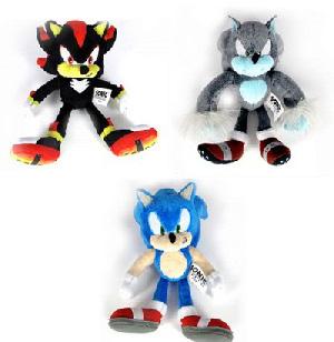 Sonic The Hedgehog 7-Inch Soft Figure Plush - Set of 3[Sonic,Werehog,Shadow]