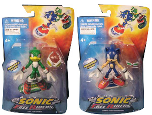 Sonic Free Riders - 3-Inch Series 1 Set of 2