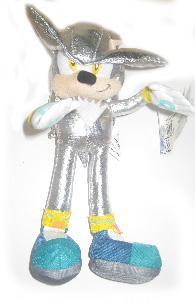 9-Inch Sonic Plush 2009 - Silver