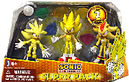 Sonic The Hedgehog - Super 3-Pack: Super Silver, Super Sonic, and Super Shadow [7 Chaos Emeralds]