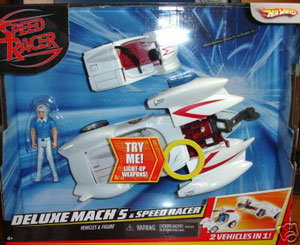Speed Racer Deluxe Battle Vehicle With Figure - Mach 5